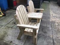 Jack & Jill garden bench
