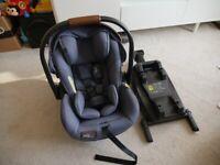 Joie i-Level Signature i-Size Car Seat & ISO FIX base - Granit Bleu (Size 0+: Birth to 13KG)