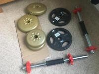 Barbells x 2 with weights