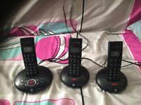 BT Graphite 1500 TRIO Single Line Cordless Phone and Answering Machine