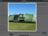 Tent 8 man Kampa watergate 8 with canopy