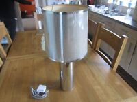living room bedside table lamp very trendy silver shade top quality