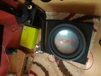 Alpine SWR-1522D subwoofer + pioneer Pioneer GM-D9601 amplifier + vibe black death tweeters