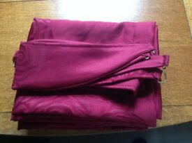 2 Pairs of Wine Colored Curtains