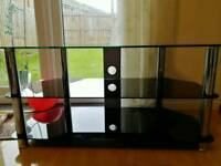 Glass unit TV stand