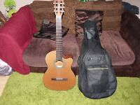 crafter lite classical electro acoustic guitar