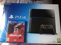 500GB Sony PS4 with Driveclub