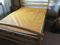 Double mattress vinyl covered 6 months old very good condition