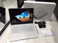"Microsoft Surface Book 13.5"" Warranty, Boxed (126GB SSD, Intel i5 6. Gen, 8GB RAM) Laptop, New Cond"
