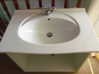 Basin sink with mixer tap W: 75cm D: 49cm