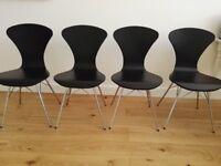 Modern Chic Dining Chairs - Black x 4 - £40 ***BARGAIN***