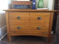 TV stand / unit solid wood pine