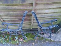 cast iron bench ends, light weight