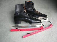 Pair of mens Ice Skates size 11 black