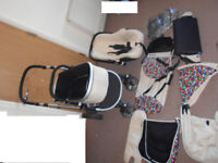 Pushchair complete travel system