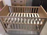 Brand New Mamas and Papas Light Oak Cot bed