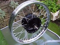BSA C15 rebuilt rear wheel