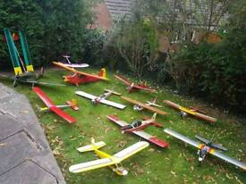 Job lot off rc planes , old ,