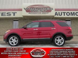 2013 Ford Explorer LIMITED 7 PASS AWD, PAN ROOF, NAV, LEATH, LOA