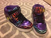 Heeleys Size 13, Rainbow Zebra