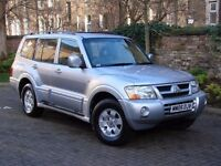 EXCELLENT DIESEL 4X4 7 SEATER!! 2005 MITSUBISHI SHOGUN 3.2 DI-D EQUIPPE 5dr AUTO, AWD, 1 YEAR MOT