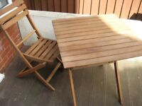 Pine Bistro / Patio / Garden Table and Chair - £5