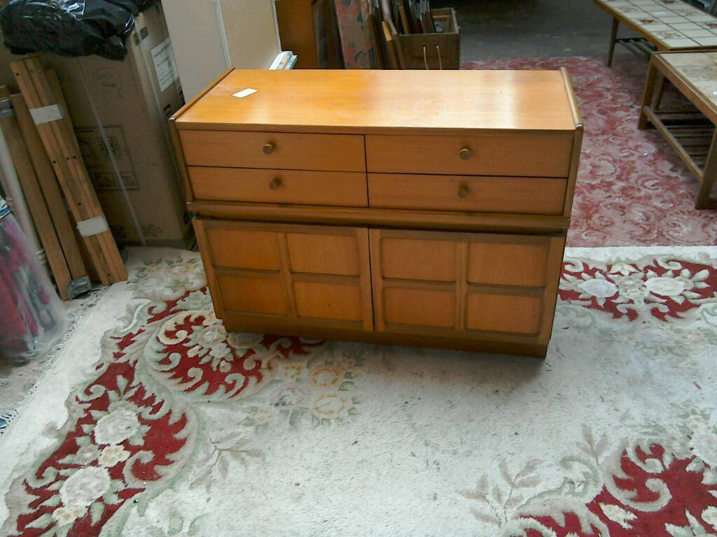 Teak small cabinet with drawers #30030 £49