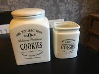 Cookie Jar and Utensil Pot