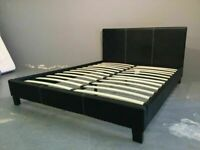 ⭐️🌟✨Excellent Quality⭐️🌟✨(4ft6inch) Double & (5ft)King Size Leather Bed Frame W Opt Mattress
