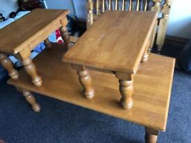 Pure solid oak table set