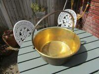 Brass preserving pan - vintage