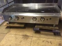 "CAFE TAKEAWAY APW WYOTT NATURAL GAS GRIDDLE 48"" 120CM BURGER GRIDDLE WITH THERMOSTAT AMERICAN"