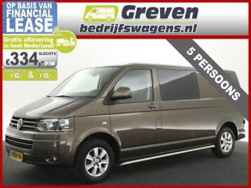 Vw Transporter 2.0 TDI L2H1 DC 5 Pers Airco Cruise PDC