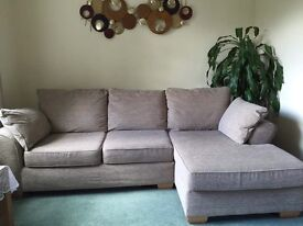Corner Chaise Right Hand Sofa - NEXT Brand; Very Good condition