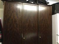 3 door stag wardrobe