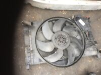 53 MERCEDES C180 PETRO RADIATOR FAN WORKING AND TESTED