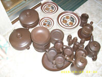 DENBY MAYFLOWER 12 PLACE DINNER SET/AND MORE 100 PIECES