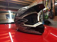 Shift motorcross helmet and goggles size M