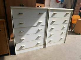Modern chest of 5 drawers (x2 in stock)