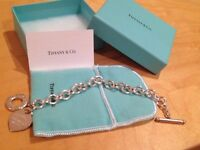 """Return to Tiffany"" heart tag toggle bracelet in original pouch and box"