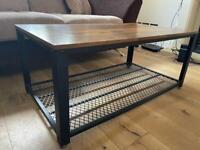 Wayfair Coffee table - brown/black wooden metalic