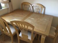 Dining Table & Chairs, Large Wooden