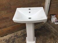 Sink and pedestal