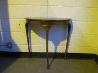 VINTAGE MAHOGANY HALF MOON SIDE TABLE HALL TABLE