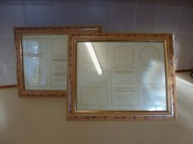 2 Painted wooden montage picture frames