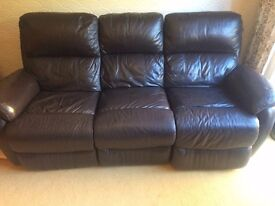 Electric Recliner Leather 3 Seater Sofa