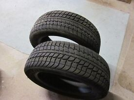 Front winter tyres for Mercedes A180. Excellent condition
