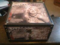decorative storage box , an iconic illustration of Marilyn Monroe celebrating her 80th Anniversar