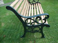 Heavy Wrought Iron End Benches
