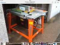 110 volt site saw with extending table